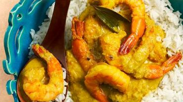 Curry z krewetkami i mlekiem kokosowym