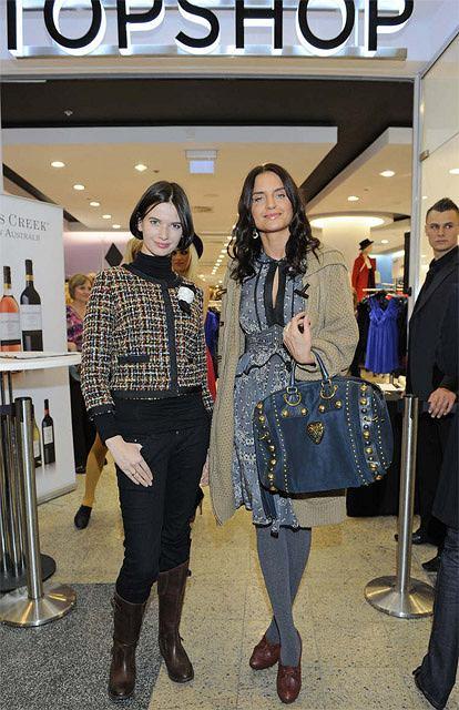 Joanna Horodyńska i Karolina Malinowska na otwarciu Topshop w Polsce fot. DIGITAL/East News