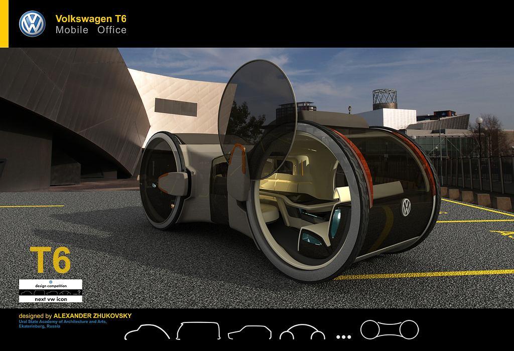 Volkswagen T-6 concept - rosyjski projekt biura na kółkach
