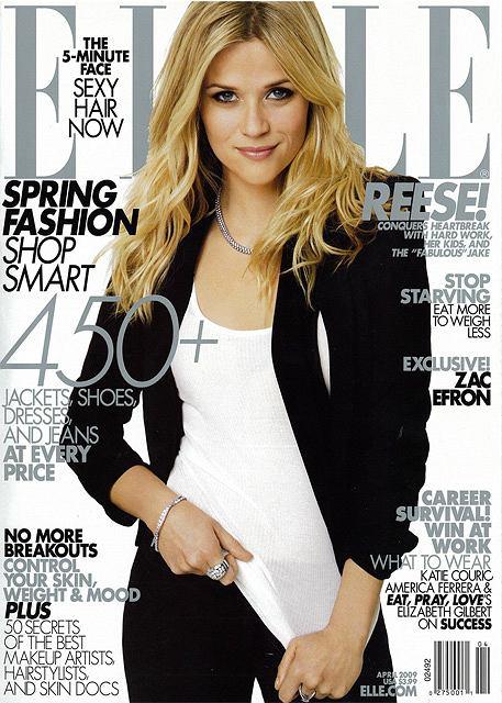 Reese Witherspoon na okładce Elle skan własny