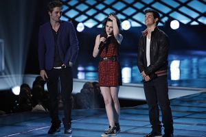 Robert Pattinson, Kristen Stewart i Taylor Lautner