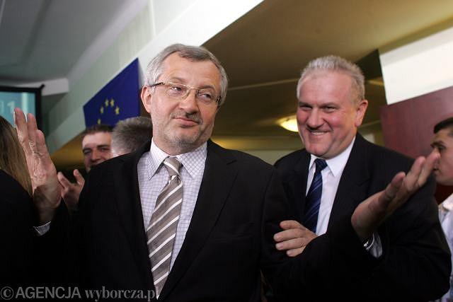 Marek Siwiec (z lewej)