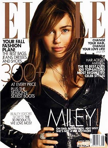 Miley Cyrus na okładce Elle - skan