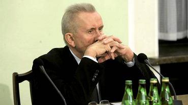 Andrzej Czuma podczas obrad komisji śledczej ds. nacisków