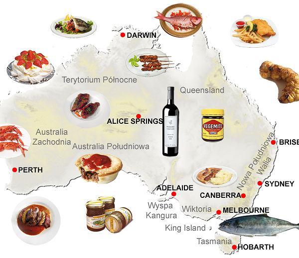 WIELKA, NIEDŹWIECKA, KULINARNA MAPA AUSTRALII