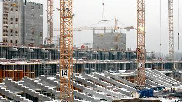 Styczeń 2010. Budowa Stadionu Narodowego. 8 stycznia 2010