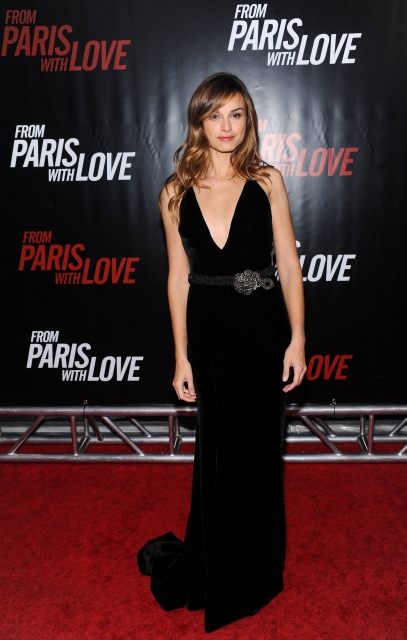 Actress Kasia Smutniak attends the premiere of 'From Paris With Love' at the Ziegfeld Theatre on Thursday, Jan. 28, 2010 in New York. (AP Photo/Evan Agostini)
