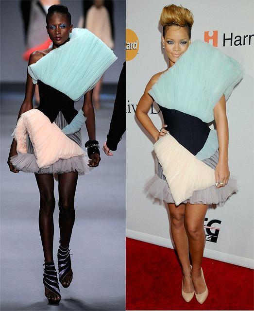 Rihanna w oryginalnej kreacji projektu Victor and Rolf