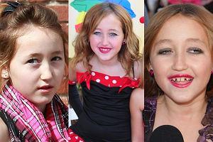 Podobno nie ma brzydkich dzieci? Ok, przy tym więc pozostańmy. Noah Cyrus - młodsza siostra Miley - w styczniu skończyła 10 lat. Mimo to pojawia się publicznie w pełnym, dość mocnym makijażu i w butach na obcasie. Umówmy się, na dziesięciolatkę to ona nie wygląda. Ile byście jej dali?