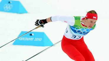 Vancouver 2010. Justyna Kowalczyk na trasie biegu na 10 km techniką dowolną