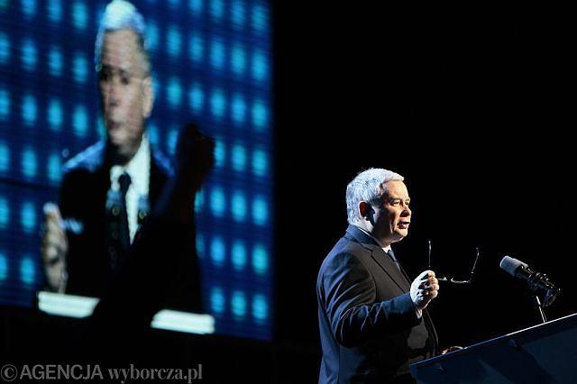 Jarosław Kaczyński na kongresie