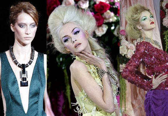 Giorgio Armani wiosna- lato 2010 fot. AP Photo; Dior haute couture wiosna-lato 2010