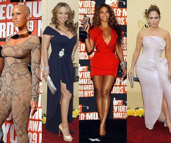 Amber Rose, Mariah Cerey, Beyonce, Jennifer Lopez