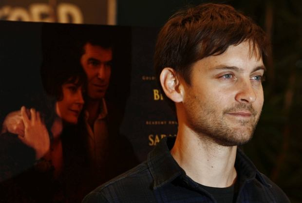 """Actor Tobey Maguire arrives at the premiere of """"The Greatest"""" in Los Angeles on Thursday, March 25, 2010. (AP Photo/Matt Sayles)"""