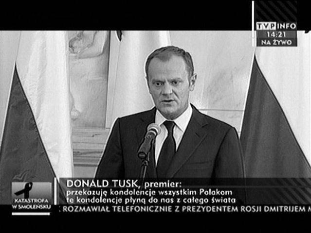 Premier Donald Tusk na konferencji prasowej