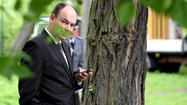 Nad przebiegiem wiecu czuwał Jan Dziedziczak - rzecznik prasowy