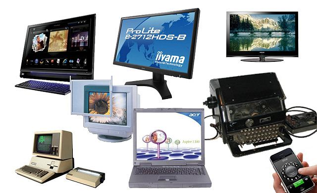 kolaż historia monitorów