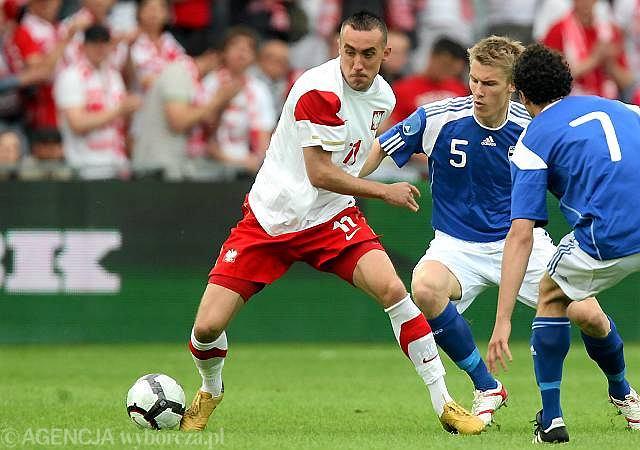 Ireneusz Jeleń w meczu z Finlandią