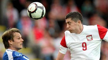 Polska - Finlandia 0:0. Robert Lewandowski