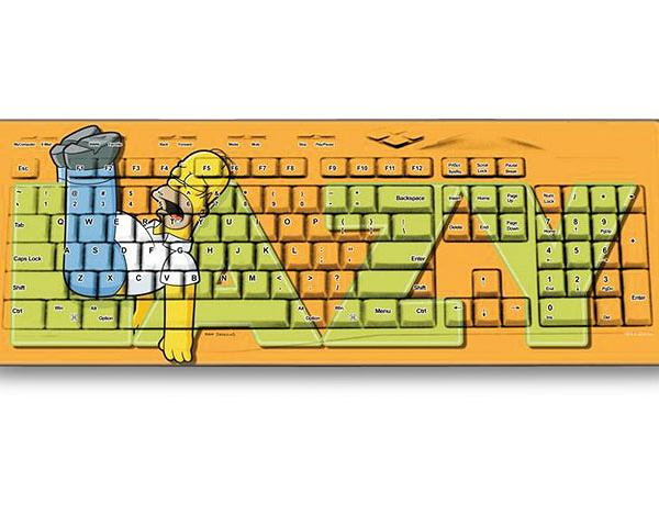 Keyscaper - klawiatura dla fana Simpsonów