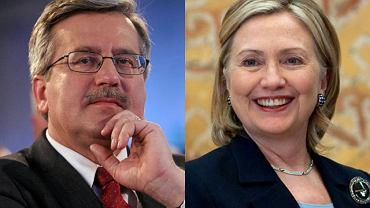 Bronisław Komorowski i Hillary Clinton