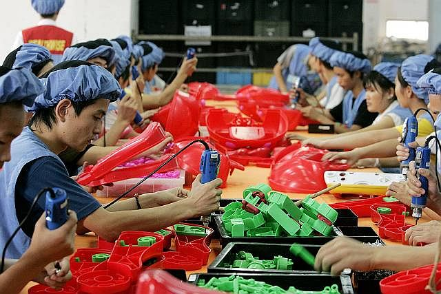 Chińska fabryka plastiku