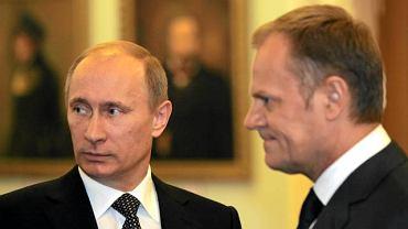 Premierzy: Rosji Władimir Putin i Polski Donald Tusk
