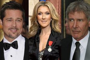 Brad Pitt, Angelina Jolie, Harrison Ford