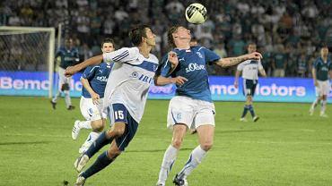 Lech Poznań w meczu z z Interem Baku z Azerbejdżanu.