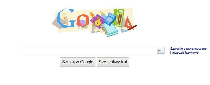 Google Doodle Gimbus Edition z okazji pierwszego dnia szkoły