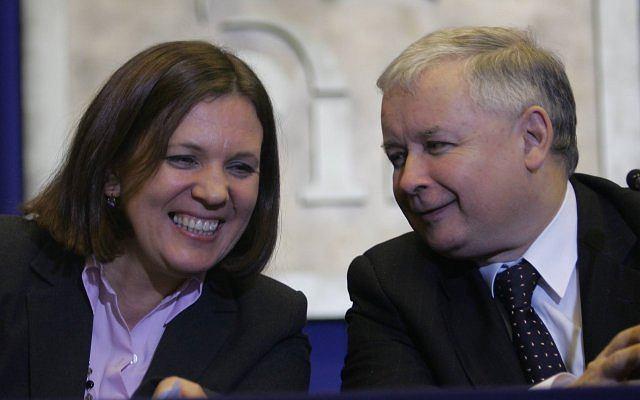 Elżbieta Jakubiak i Jarosław Kaczyński