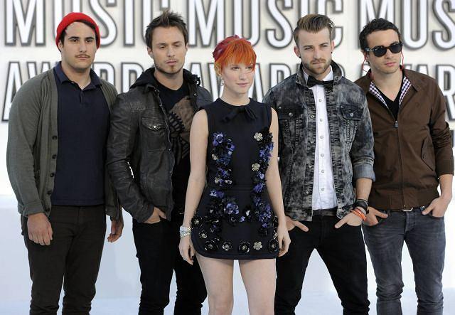 Hayley Williams i reszta członków Paramore.