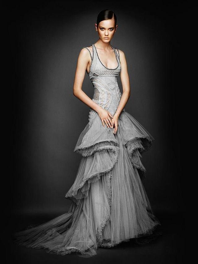 Monika Jagaciak Jac w sukni z kolekcji Atelier Versace (jesień/zima 2010/2011)