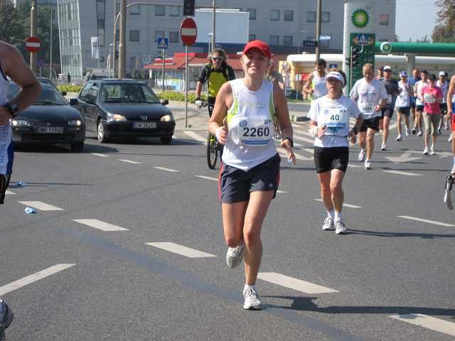 Na 38. kilometrze z numerem 2260 Alena Shumchyk z Wrocławia, która pierwszy maraton zrobiła dwa lata temu w Poznaniu razem z ''Gazetową''