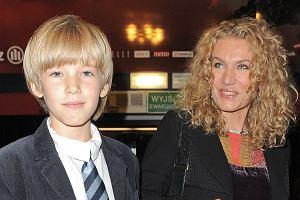 Joanna Trzepiecińska z synem