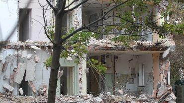 Nielegalna rozbiórka zabytkowego domu na Saskiej Kępie w 2010 roku