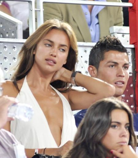 Celebrities attending the basketball game between Spain versus USA. Pictured: Cristiano Ronaldo and his girlfriend, model Irina Shayk