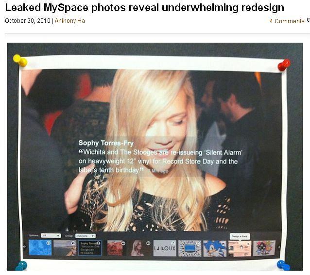 Zdjęcia nowego wyglądu MySpace