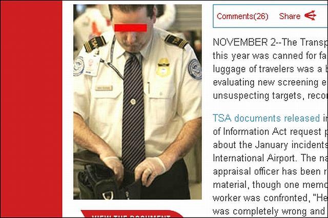 Agent TSA odpowiedzialny za