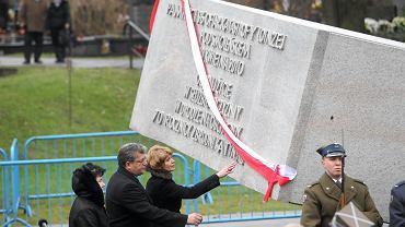 Uroczystość odsłonięcia pomnika ofiar katastrofy smoleńskiej w Warszawie