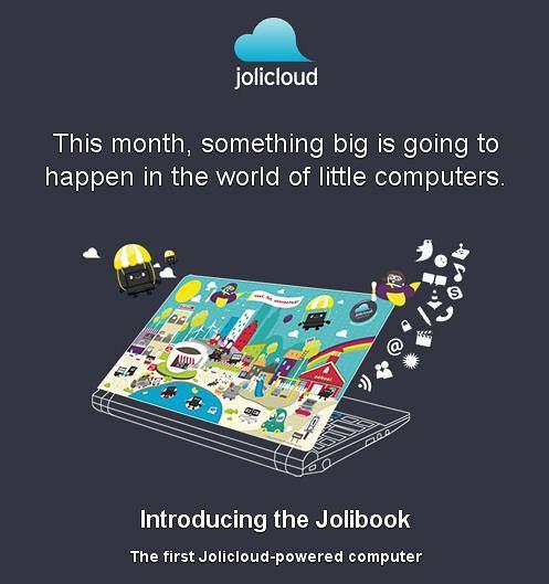 Jolibook - netbook z systemem operacyjnym w chmurze
