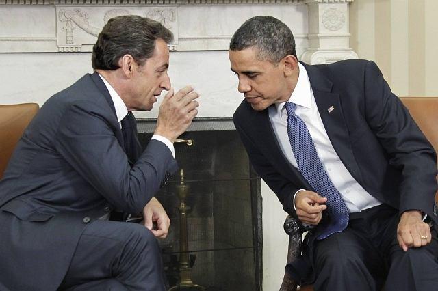 Nicolas Sarkozy i Barack Obama