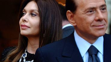 Sylvio Berlusconi ze swoją żoną Veronicą Lario. Obecnie są w separacji.