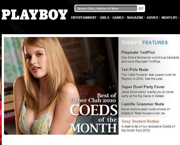 Fragment strony Playboya. Czy tak będzie wyglądać Playboy na iPada?