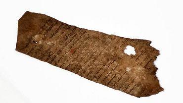 Tutaj akurat fragment Biblii znaleziony w latrynie w Gdańsku/Fot. Renata Dąbrowska / Agencja Gazeta