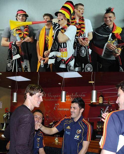 Reprezentacja Niemiec, Reprezentacja Hiszpanii