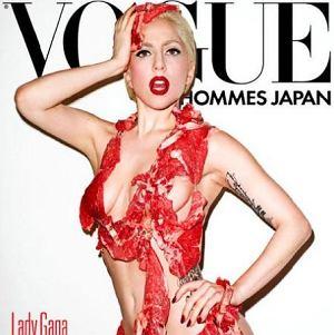 Lady Gaga w mięsnej kreacji na okładce Vogue