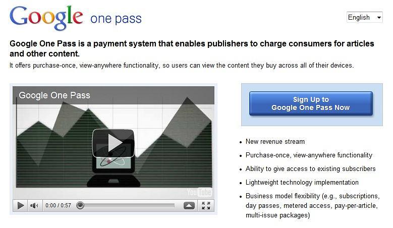 strona Google One Pass