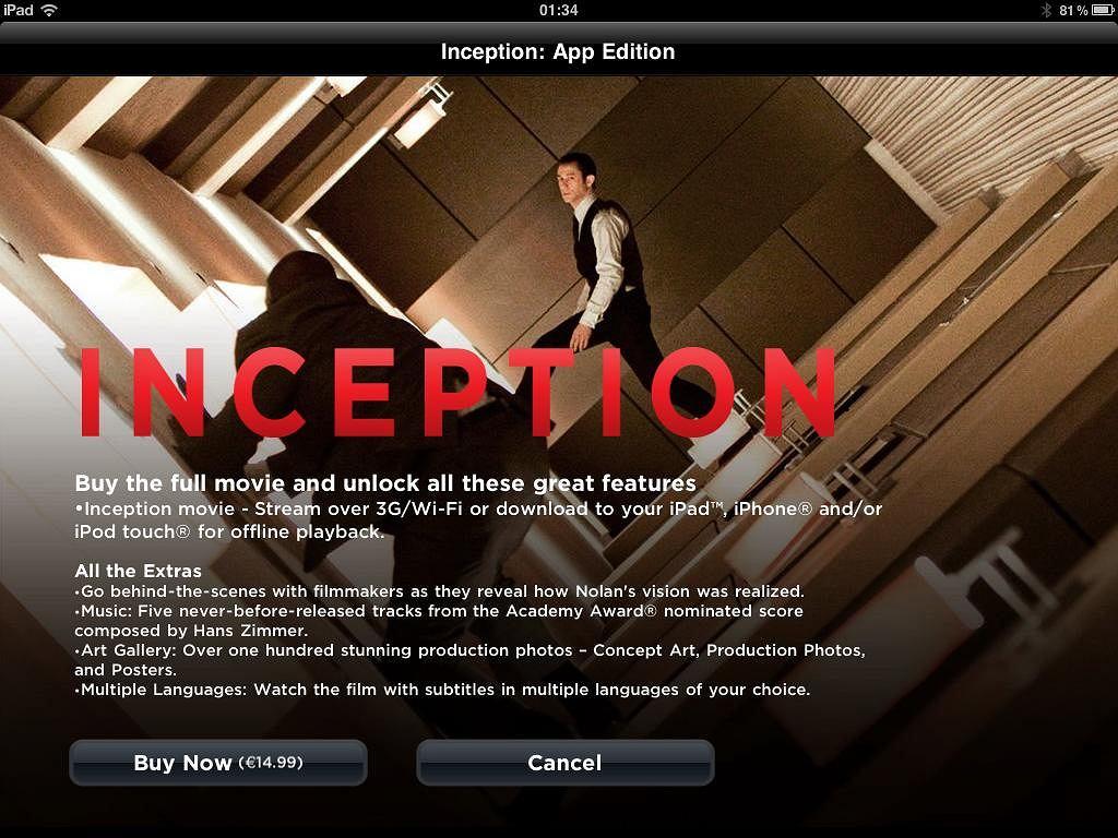 Incepcja - wydanie na iPada.