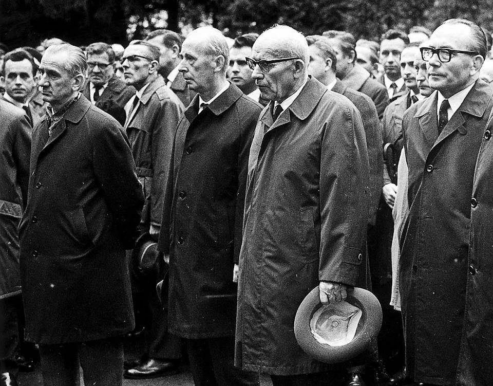 Ekipa Gomułki w 1969 r. Od prawej: Ignacy Loga-Sowiński, Władysław Gomułka i Zenon Kliszko